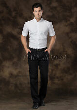 HOT Mens Casual Shirt Polo Slim Fit Short Sleeves Business Dress Shirts New S-XL
