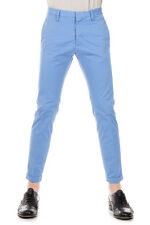 DSQUARED2 Dsquared² Men Blue Cotton 4 Pockets Capri Trousers Pants Made in Italy