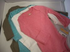 CARTERS 4 PACK GIRLS BODYSUITS LONG SLEEVE NWT SOLIDS SO CUTE!