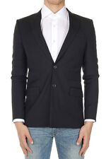 GIVENCHY Men Black Wool Single Breasted Blazer Jacket Made in Italy Neu