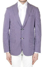 CORNELIANI ID Men New Cotton blend Striped Reversible Blazer Jacket Made Italy