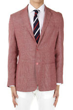 CORNELIANI ID New Men Red Virgin Wool blend Two Button Jacket Blazer Made Italy