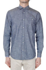 DSQUARED2 Dsquared² Men Blue Cotton Long Sleeved Shirt Made in Italy
