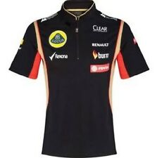 POLO SHIRT Tech Ladies Zip Formula One 1 Lotus F1 Team Sponsor 2014/5 NEW US