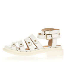 ROBERT CLERGERIE CAROUBE White Leather Sandal New with Tags and Original