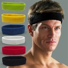 Yoga Gym Women Men Sport Cotton Sweat Sweatband Headband Stretch Head Band CHI