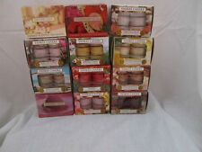 Yankee Candle 12 Scented Tea Light Lights Candles Candle Box Set Fragrance NEW