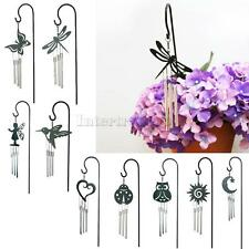 3-Tube Metal Lucky Bell Chapel Bells Wind Chimes Flower Pot Bonsai Hanging Decor