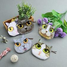 Cute Women Girl Coin Purse Cat Face Print Mini Wallet Small Clutch Bag Case J5W1