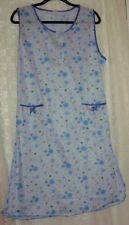 BLUE, FLORAL NO -SLEEVE NIGHTGOWN HOUSE-DRESS,LINGERIE- XXL- #79