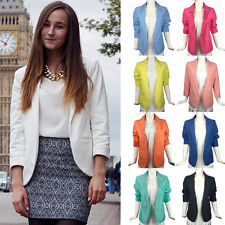 Women Ladies Stylish Slim Fit Candy Color Casual Blazer Suit Casual Coat Jacket