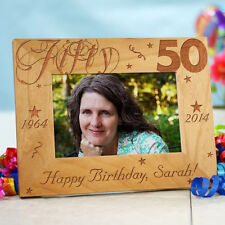 Personalized 50th Birthday Picture Frame Engraved Milestone Photo Frame 3 sizes