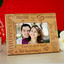 Personalized Anniversary Picture Frame Engraved Anniversary Wood Photo Frame