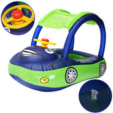 Sunshade Baby Float Seat Car Boat Inflatable Swim Ring Pool Water Fun Toy NEW