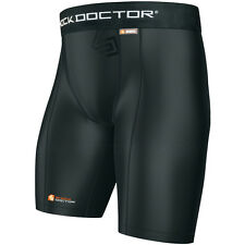 Shock Doctor Core Compression Shorts with Cup Pocket for MMA & BJJ jiu jitsu