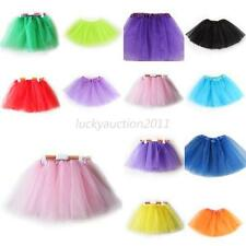 Girls Kid 3 Layer Tutu Ballet Dance Dress Skirt Pettiskirt Performance Clothes