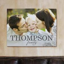 Personalized Family Photo Wall Canvas Family Name Photo Gallery Wrapped Art