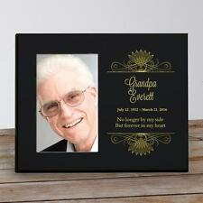 Personalized Memorial Picture Frame Black & Gold Forever in my Heart Photo Frame