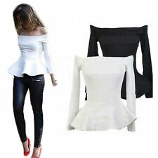New Womens Fashion Sexy Vest Shirt Long Sleeve Blouse Casual Tank Top T-Shirt