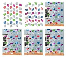 MULTI COLOUR Birthday Age STRING DECORATIONS (7 feet long) {Amscan} (Party)