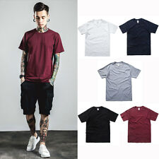 Men's Relaxed crewneck T-Shirts cotton pure Shirt short sleeved basic tee shirts