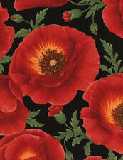 Poppy Grove by Chong-a-Hwang for Timeless Treasures Quilt Fabric Fat Quarter