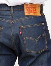 New Levi's Mens 501 0000 Straight Button Fly Shrink-To-Fit Denim Jeans 35 X 29