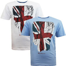 Ben Sherman Union Jack Flag Print Boys Kids Cotton Tee Crew T-Shirts BSH0005T