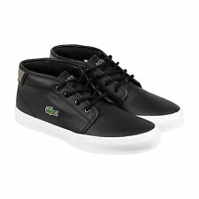 Lacoste Ampthill Chunky SEP Mens Black Leather Lace Up Sneakers Shoes