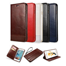 Genuine Slim Leather Flip Wallet Case Cover For Apple iPhone 6 6Plus 6S SE 5S