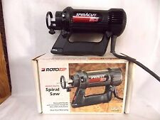 ROTOZIP heavy duty spiral saw SPIRACUT SCS with TOOLS original box $9.95 NO RSRV