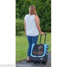 Pet Gear I-GO Plus Traveler Pet Dog Cat 5-in-1 Wheeled Pet Carrier Ocean Blue