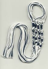 TZIT TZIT NAVY BLUE & WHITE - MESSIANIC / TZITZIT/ TZITZIOT