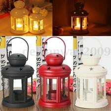 Metal Glass Votive Candle Tea Light Holder Wall Pendant Lantern Candlestick Home