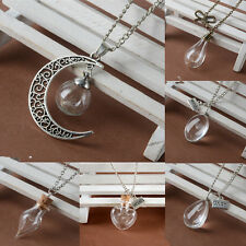 Wish Glass Necklace Dandelion Seeds in Glass Pendant Long Necklace Women Gift