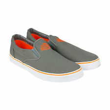 Harley-Davidson Marchmont Grey Mens Grey Canvas Slip On Sneakers Shoes