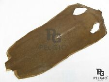 PELGIO Real Genuine Polished Stingray Skin Soft Leather Hide Pelt Clay Brown New