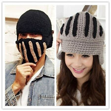 Winter Women Men Crochet Knit Ski Beanie Cap Warm Wool Roman Knight Hat Unisex X