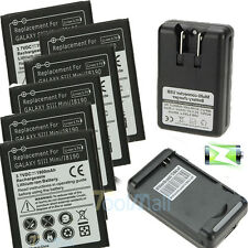 100% Genuine Battery + Dock Wall Charger For Samsung Galaxy S3 4 Note2 3 4