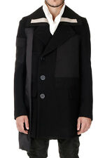 RICK OWENS SPHINX Man Virgin Wool Coat with Details in Cotton