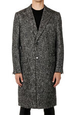 DOLCE & GABBANA New men long coat Mélange Authentic MADE IN ITALY