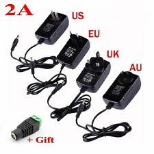 12V 2A AC Adapter Power Supply Transformer for SMD 5050 3528 LED Strip Light+DC