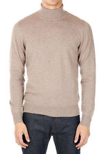 MARTIN MARGIELA MM14 Men Beige Patches Wool Turtle Neck Sweater Made in Italy