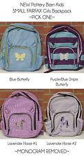 NEW Pottery Barn Kids SMALL FAIRFAX Backpack Butterfly Horse lavender PBK mono