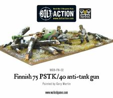 Warlord Games Bolt Action BNIB Finnish 75 PSTK/40 Anti-Tank Gun WGB-FN-32