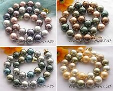"""X0179 17"""" 16mm round south sea shell pearl necklace"""