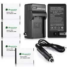 NB-6LH NB-6L Battery For Canon Powershot D10 S95 SD1300 SX500 IS SX260 + Charger