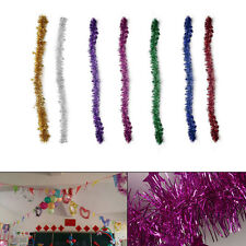 Vintage Shiny Star Wire Foil Tinsel Garland Xmas Tree DIY Craft Party Decoration