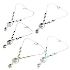 Girls Lady Fashion Jewelry Moon Star Rose Flower Crystal Pendant Necklace