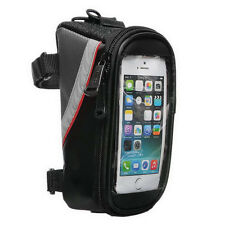 Cycling Bike Bicycle Front Frame Pannier Tube Bag For Cell Phone Waterproof New